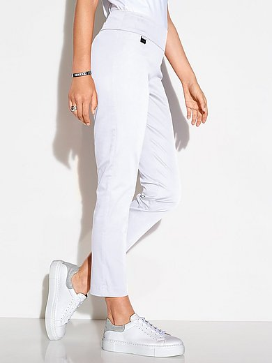 Lisette L. - Enkellange modellerende broek met brede band