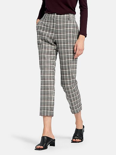 Fadenmeister Berlin - 7/8-length trousers with check pattern