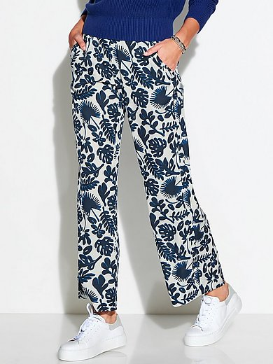 Stehmann - Le pantalon longueur chevilles à imprimé fleuri