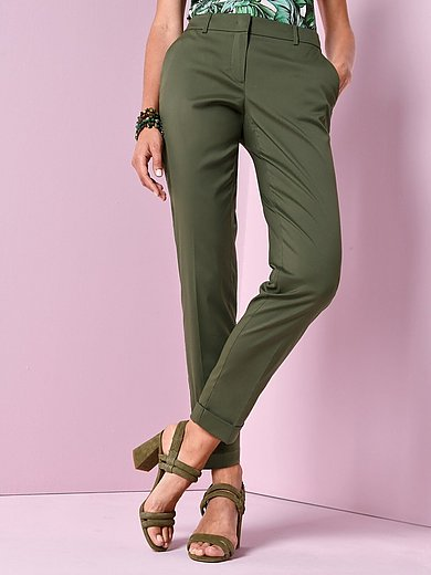 Windsor - Ankle-length trousers with shaped waistband
