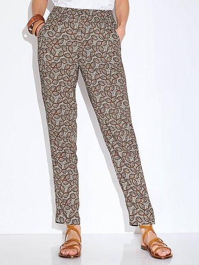 Peter Hahn - Enkellange broek met minimal-dessin