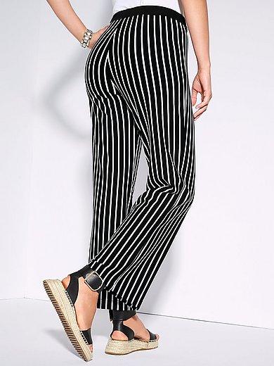 Doris Streich - Le pantalon en jersey à rayures verticales