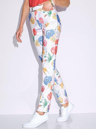 Brax Feel Good - Slim Fit-jeans model Mary met bloemenprint
