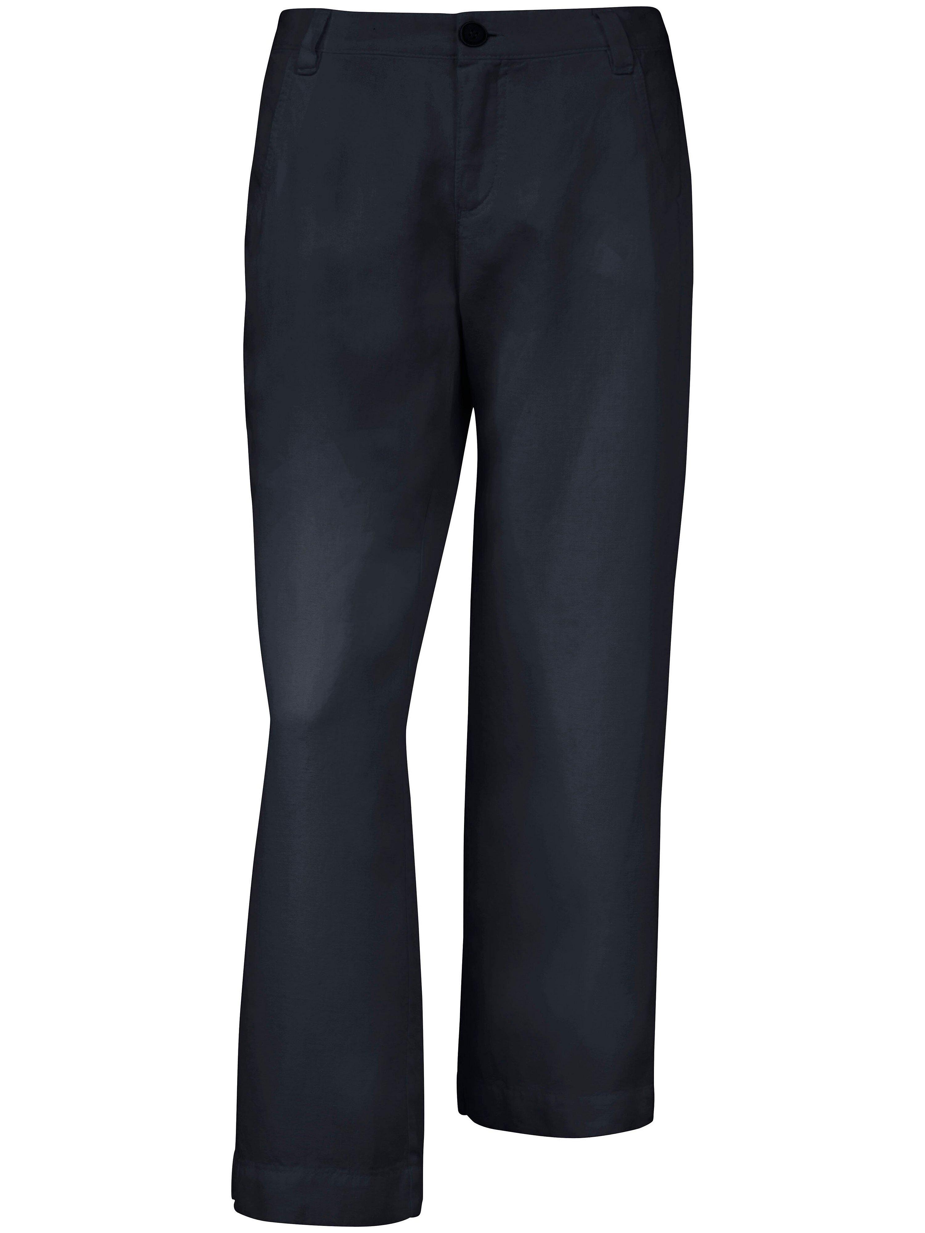 Culotte van 100% linnen Van Peter Hahn blauw