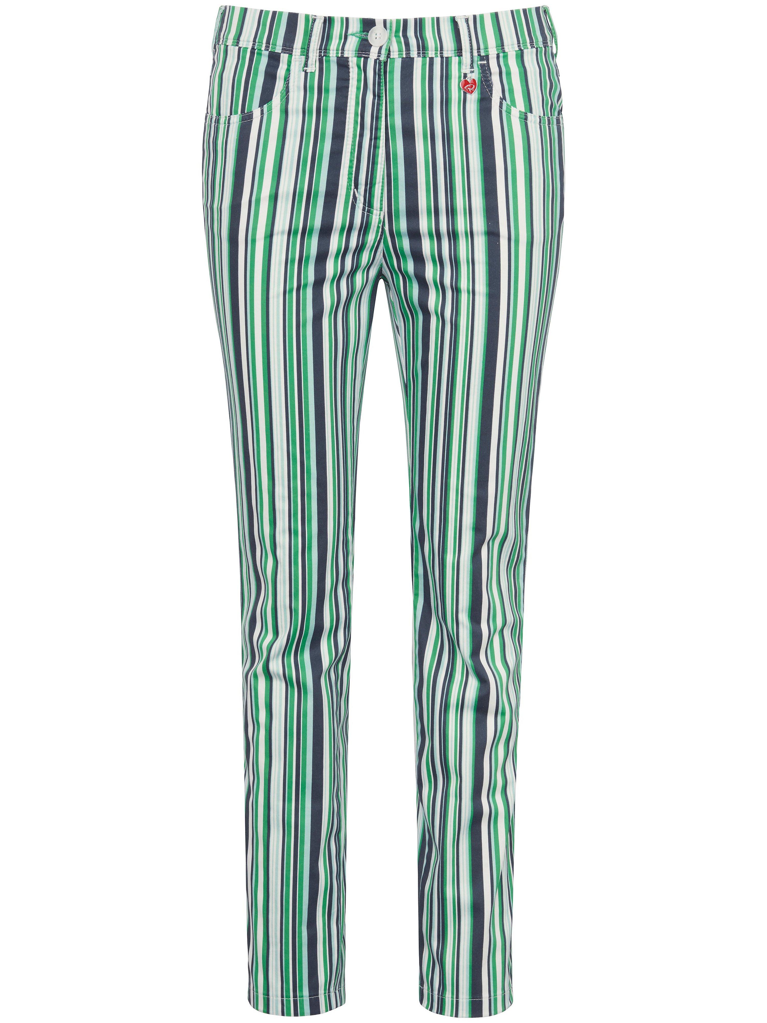 Le pantalon longueur chevilles coton stretch  Relaxed by Toni vert taille 52