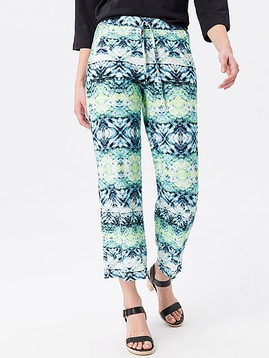 Green Cotton - 7/8-length trousers in 100% cotton