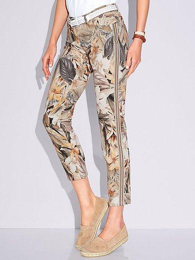 Toni - Perfect Shape-broek in 7/8-lengte met bladerprint