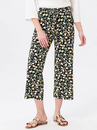 Green Cotton - Trousers in 100% cotton with lemon print