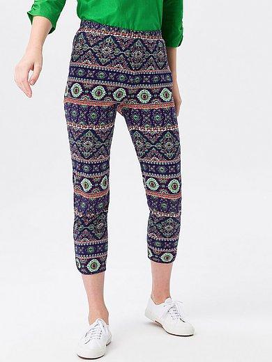 Green Cotton - Smalle broek van 100% katoen met zijsplitten