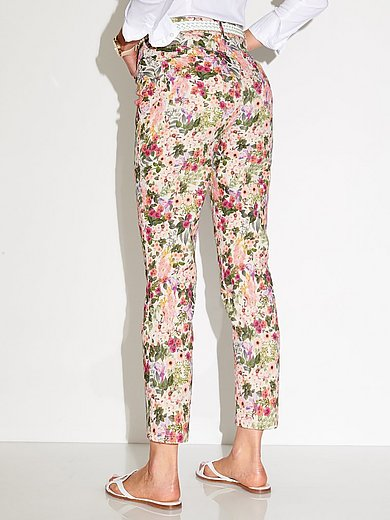 Peter Hahn - Enkellange jeans pasvorm Barbara met bloemenprint