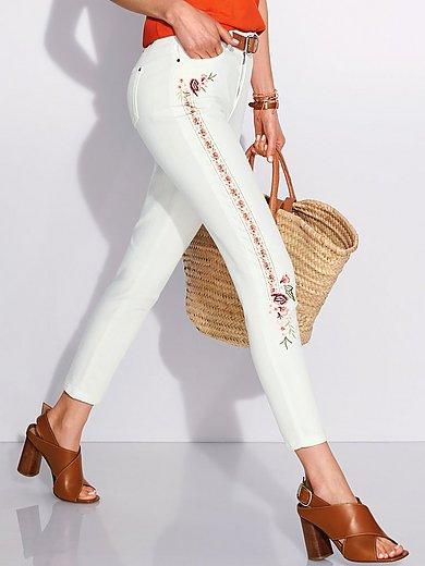 Peter Hahn - 7/8-jeans pasvorm Sylvia met bloemborduursel