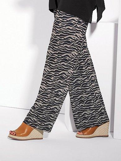 Elena Miro - Jerseybroek in palazzo-stijl met zebraprint