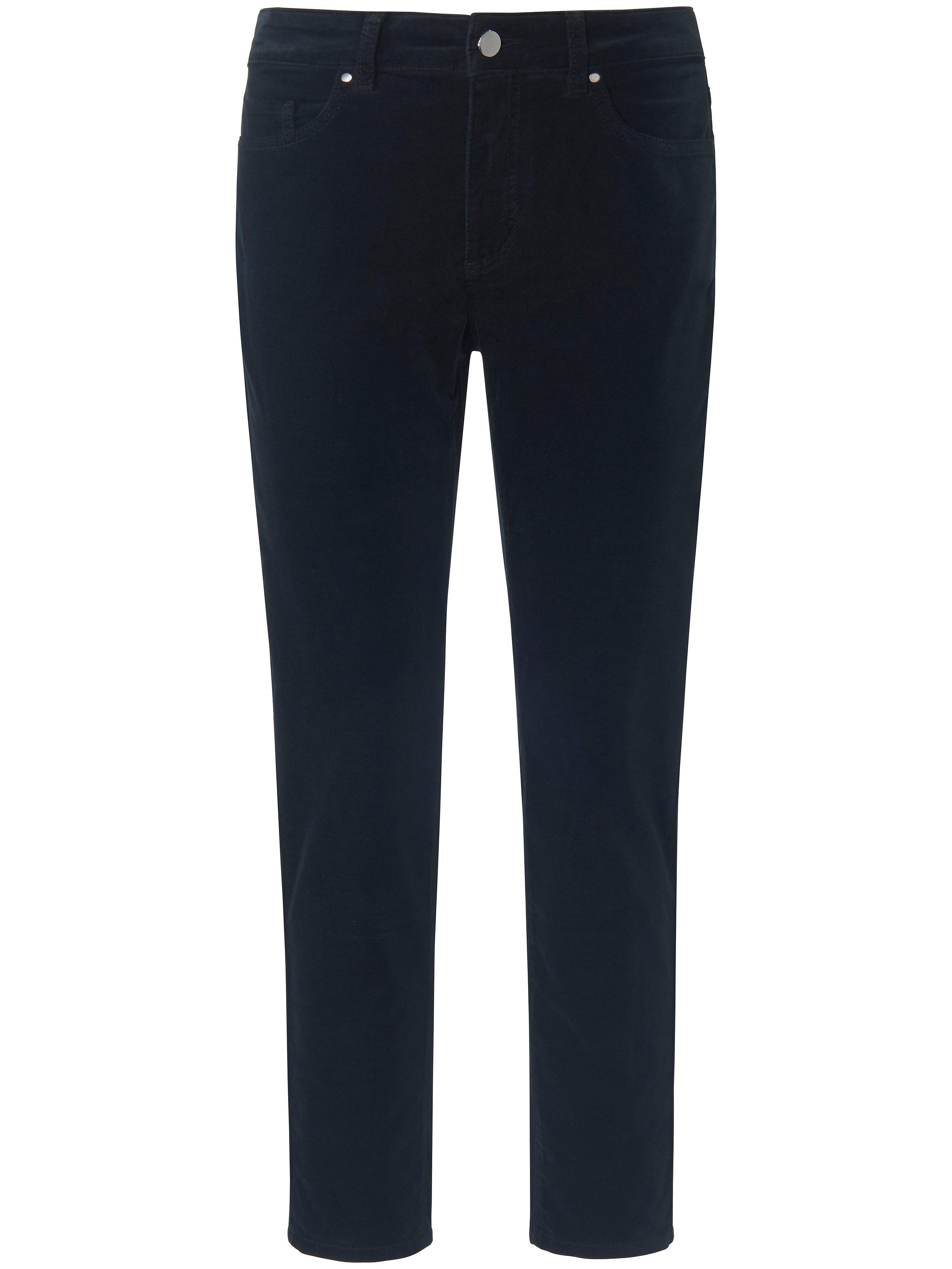 Enkellange Slim Fit-broek in smal 5-pocketsmodel Van DAY.LIKE zwart