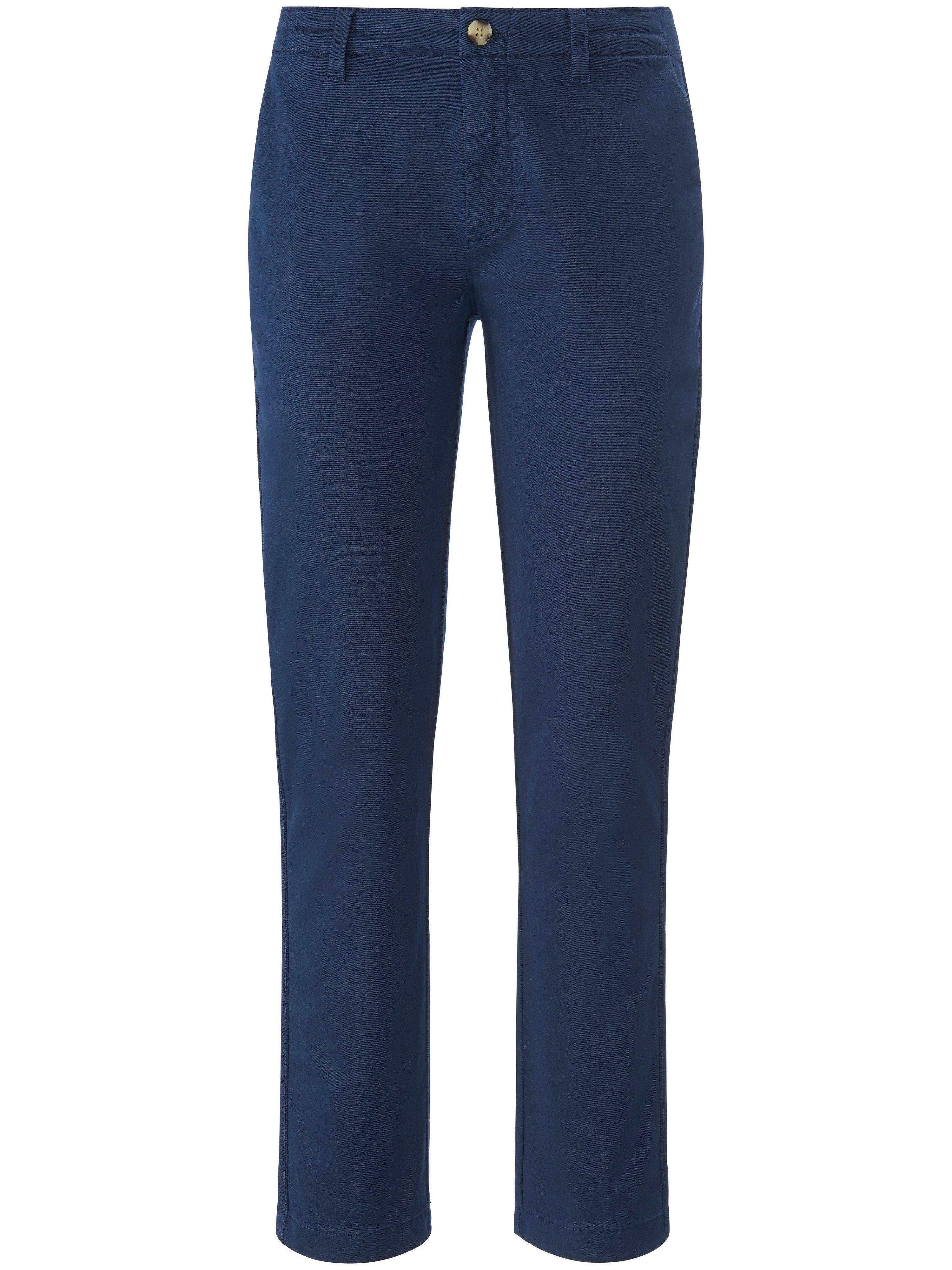 Enkellange Slim Fit-broek in chinostijl Van DAY.LIKE blauw
