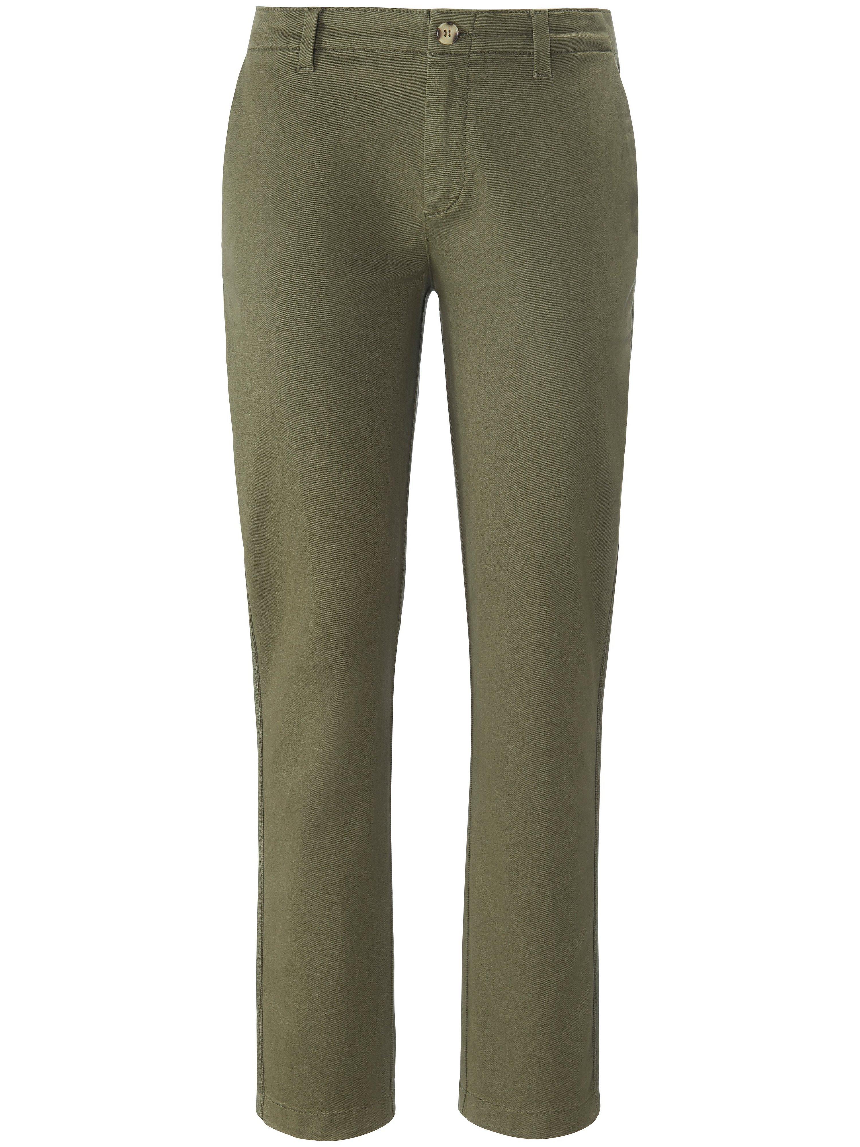 Enkellange Slim Fit-broek in chinostijl Van DAY.LIKE groen