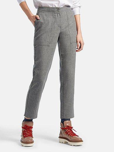 DAY.LIKE - Enkellange Slim Fit-broek met krijtstreepdessin