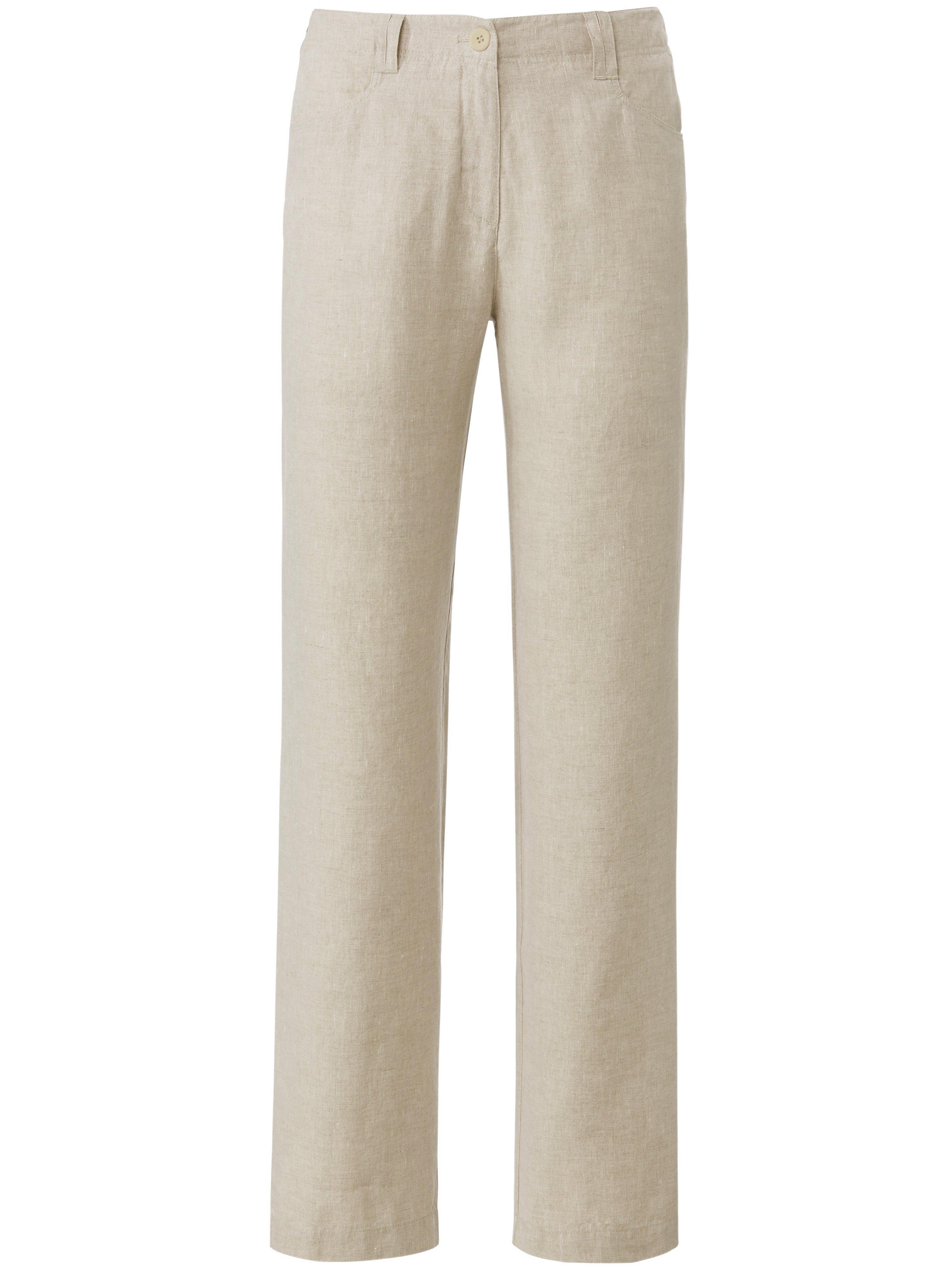 Broek 100% linnen Van PETER HAHN PURE EDITION beige