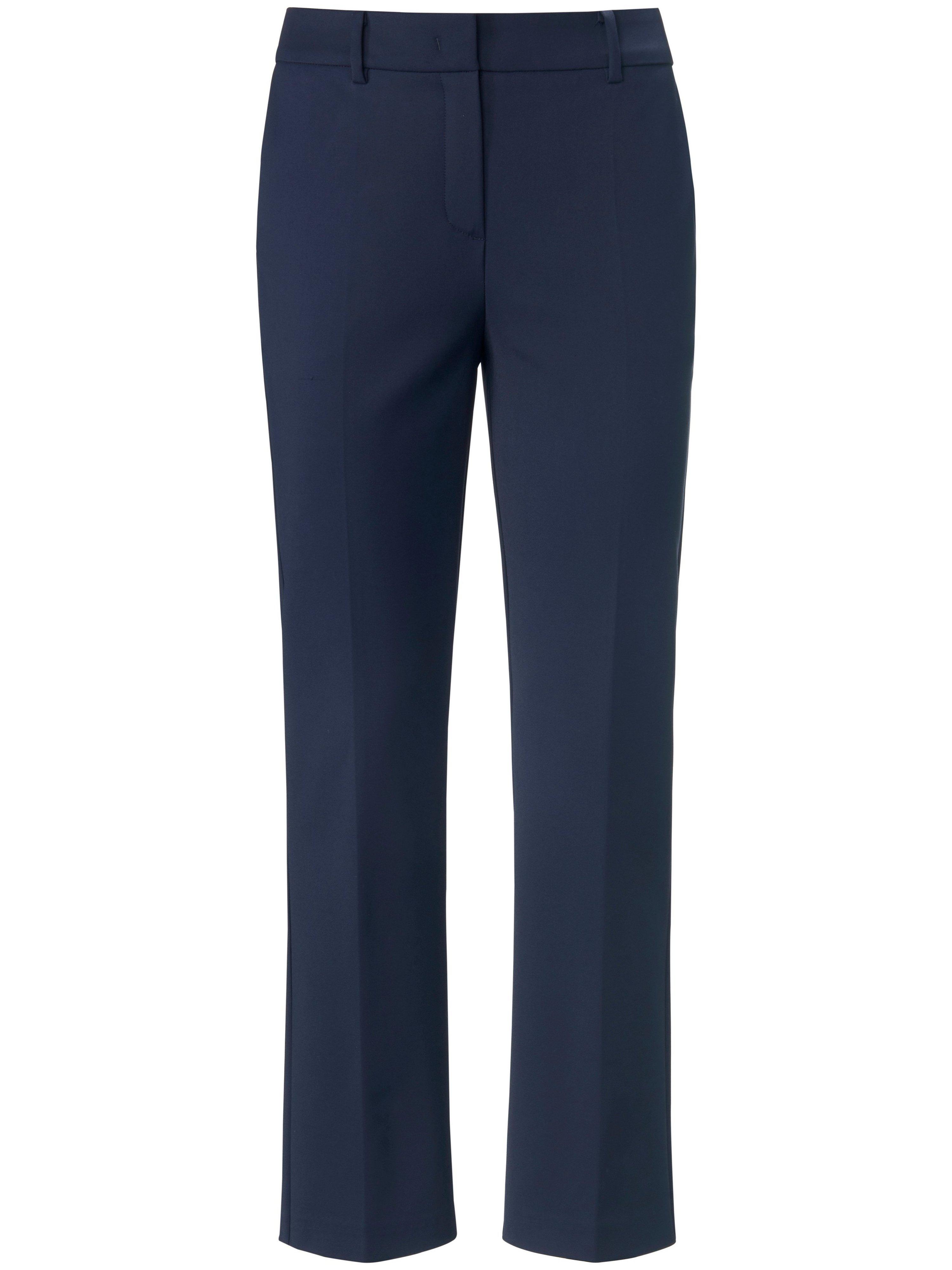 Enkellange broek rechte pijpen en persplooien Van St. Emile blauw