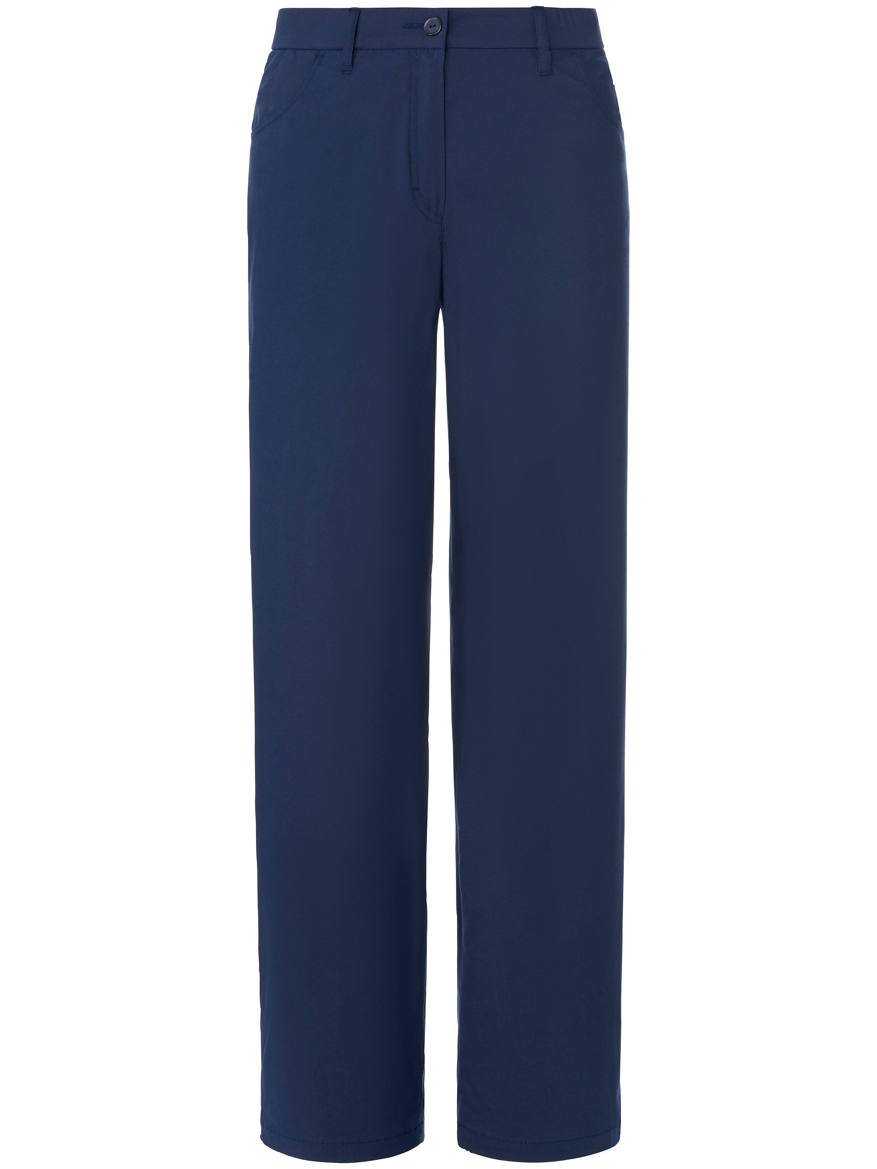 Broek model Babsie normale taillehoogte Van KjBrand blauw