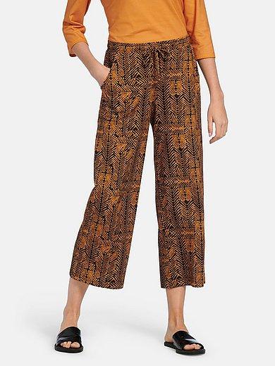 Green Cotton - Enkellange broek van 100% katoen zigzag-print