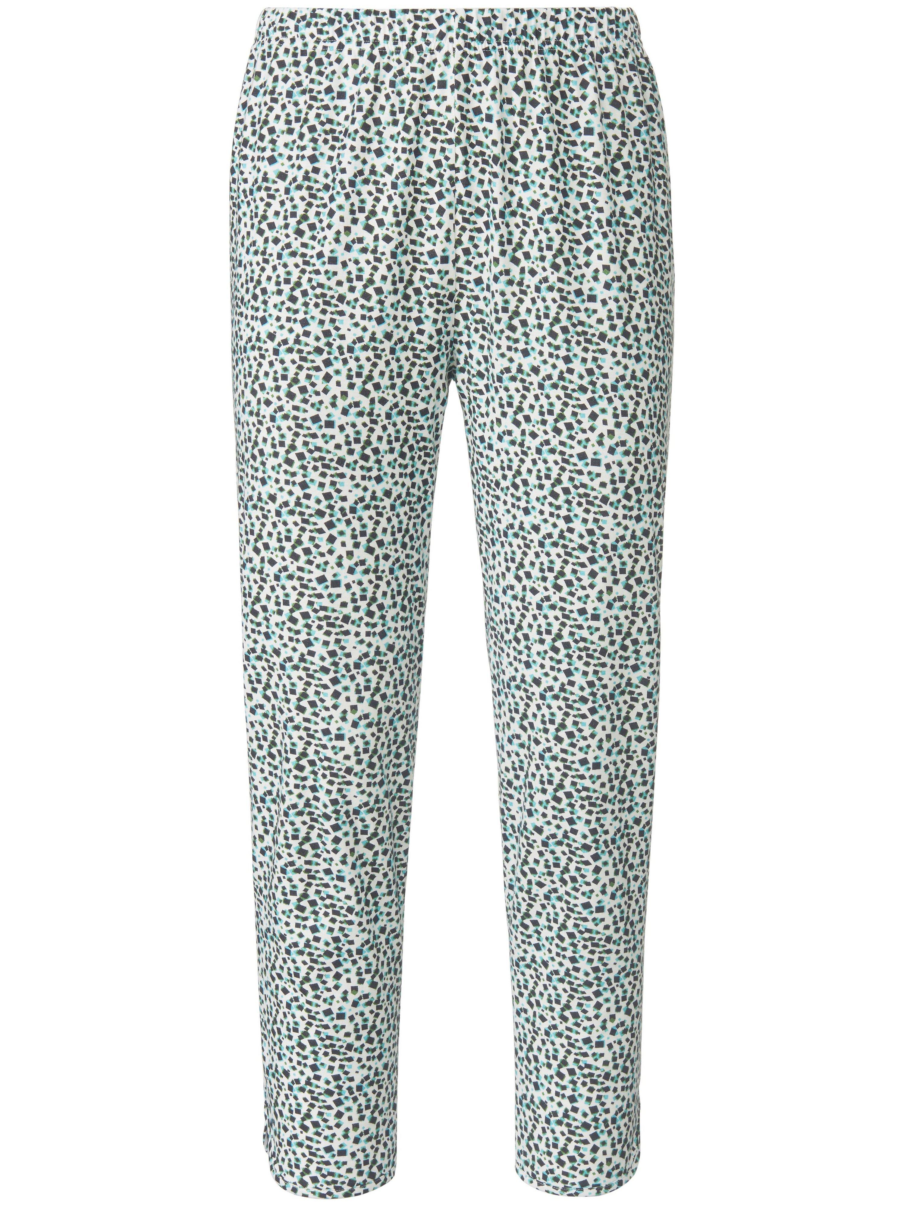 7/8-broek 100% katoen subtiele print Van Green Cotton wit