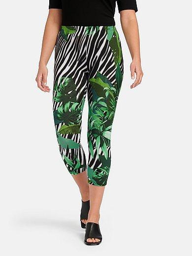 Doris Streich - Le legging 7/8 avec motifs feuilles et zèbra