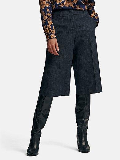 St. Emile - La jupe-culotte en jean à poches ouvertes devant