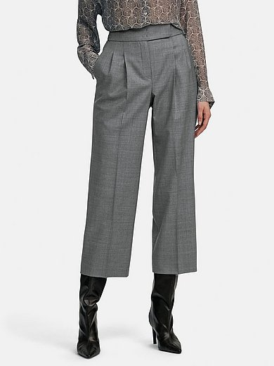 Windsor - 7/8-length trousers with double-pleated waistband