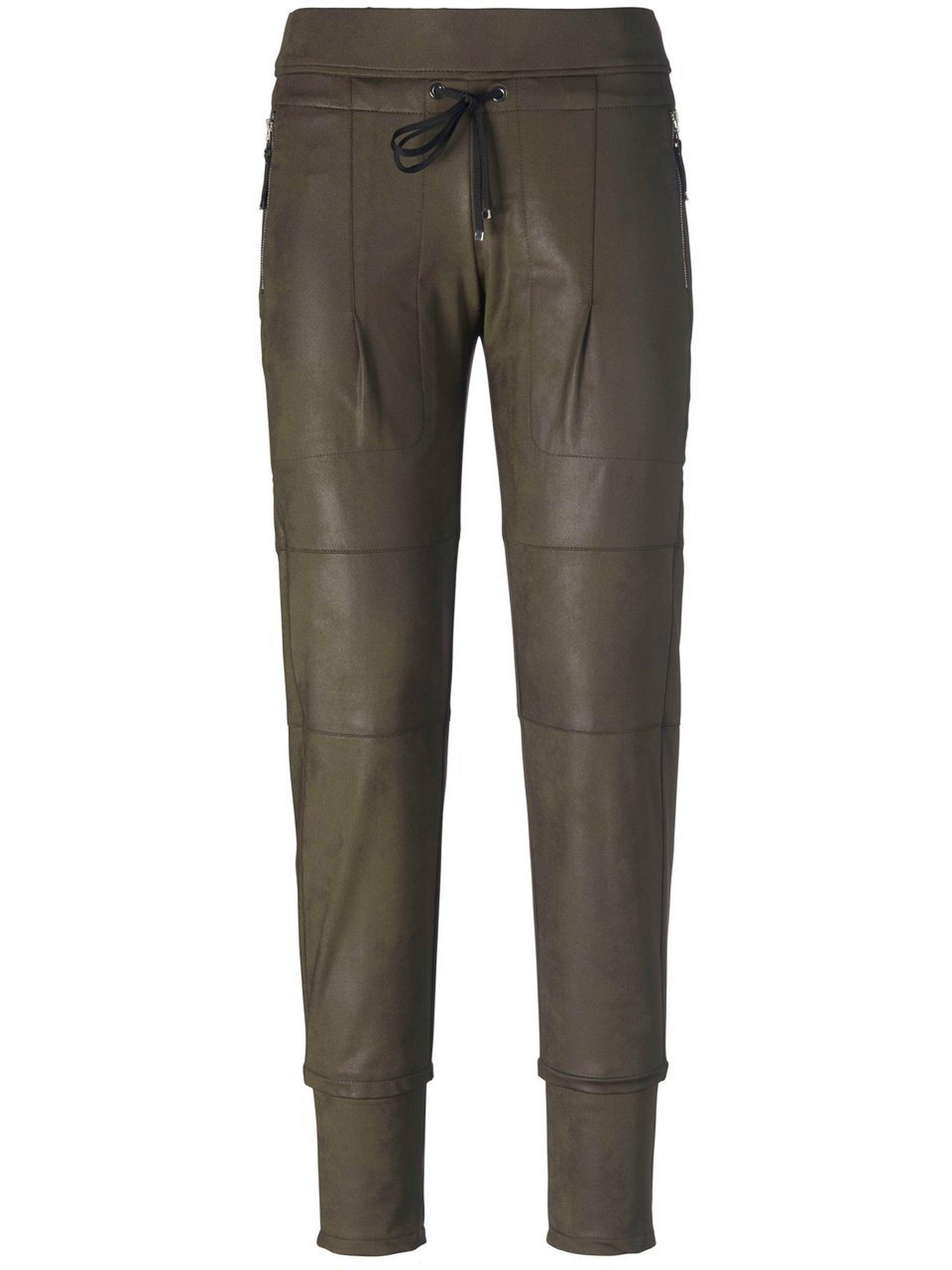 Jersey broek model Candy in jogg-pant-stijl Van Raffaello Rossi groen
