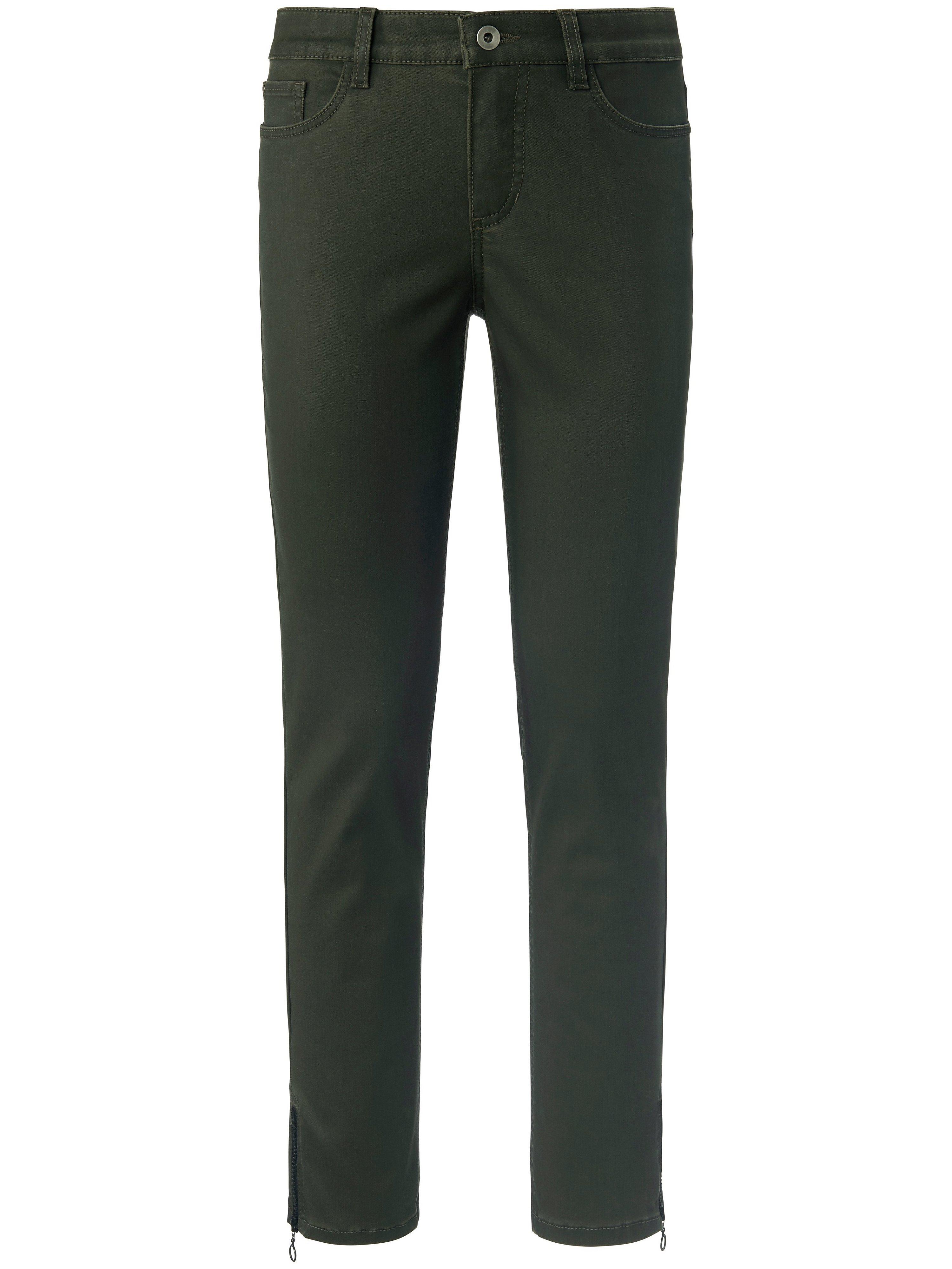 Enkellange broek pasvorm Sylvia Van Peter Hahn groen