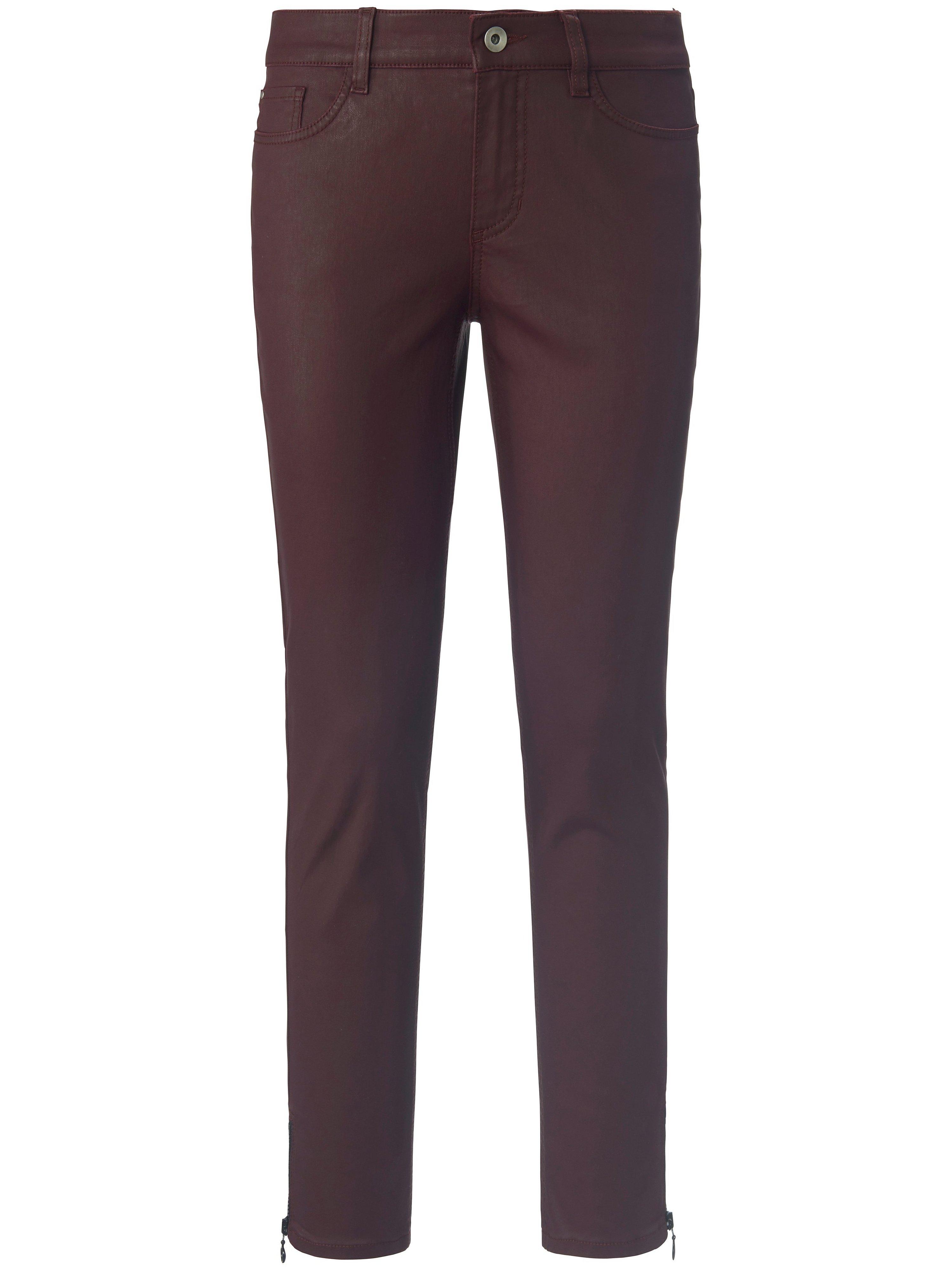 Enkellange broek pasvorm Sylvia Van Peter Hahn rood