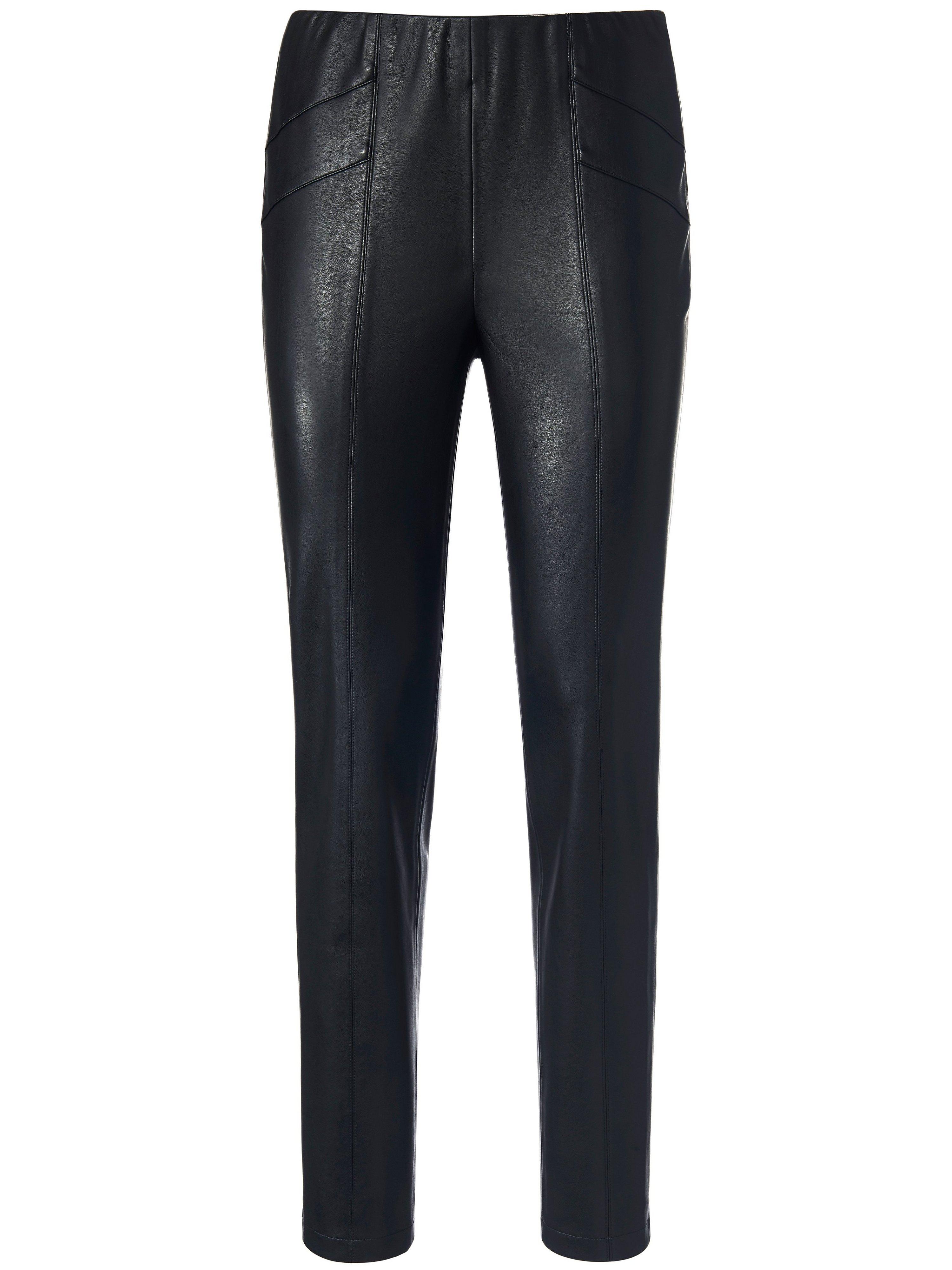 Legging elastisch imitatieleer Van Laura Biagiotti ROMA zwart