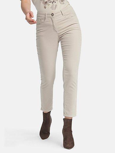 Basler - Ankle-length velvet jeans design Julienne