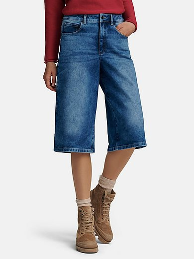 portray berlin - Denim culottes with elasticated waistband