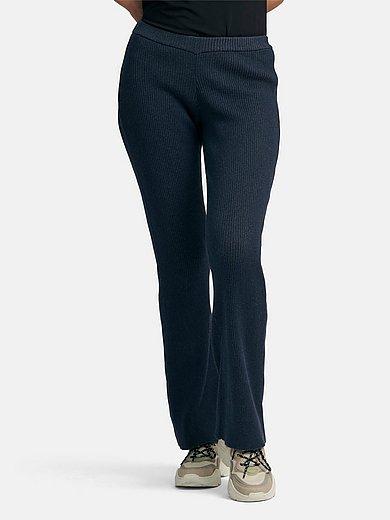 Peter Hahn - Le pantalon en maille à taille élastiquée