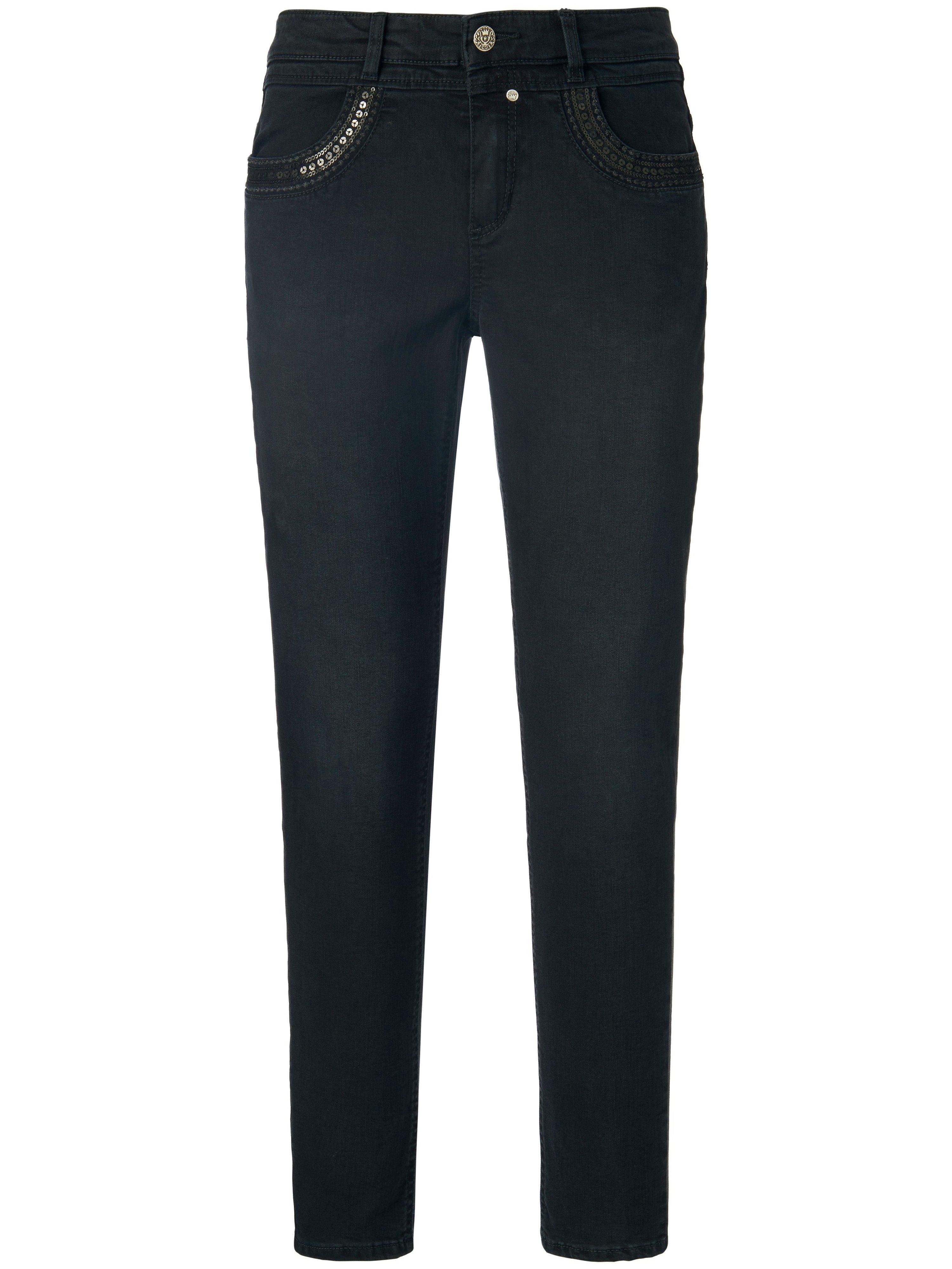 Enkellange jeans model Grace Van Glücksmoment denim