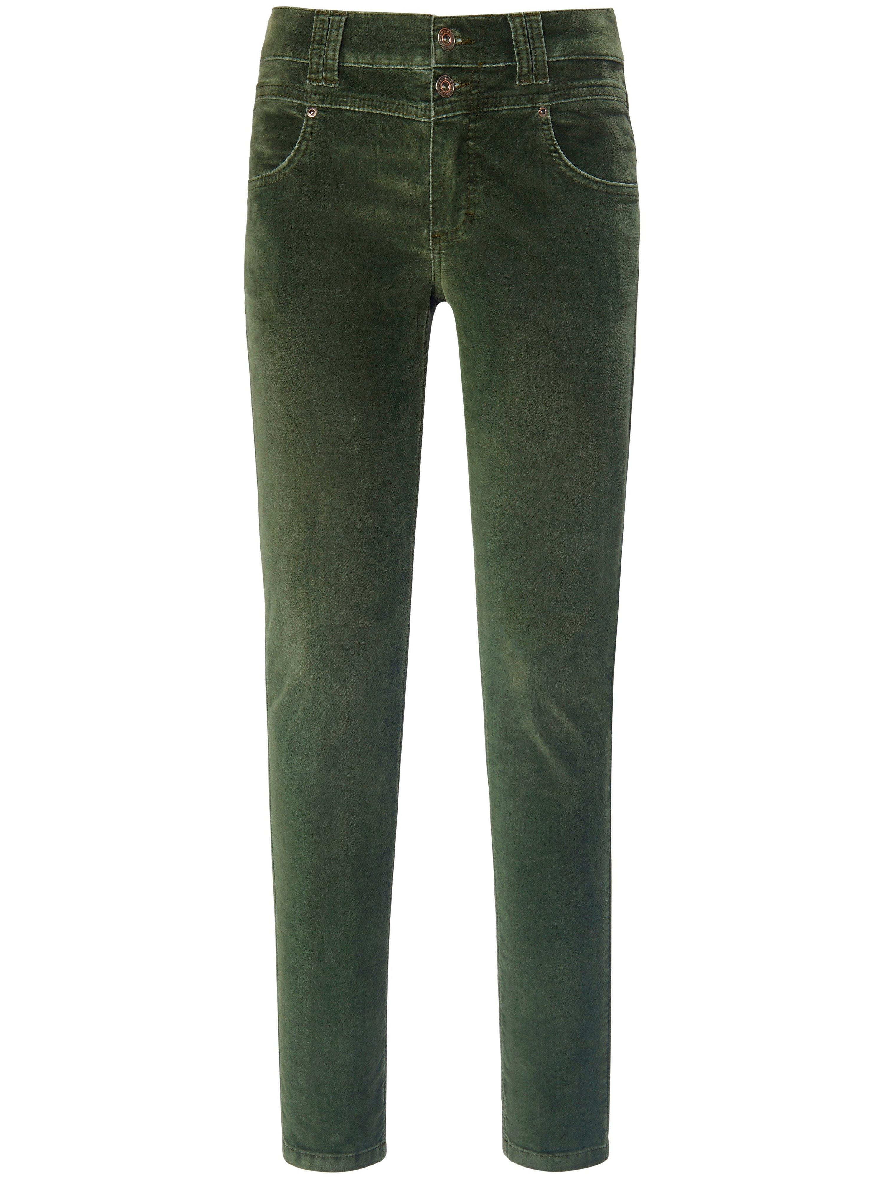 Fluwelen broek in skinny-model Van ANGELS groen