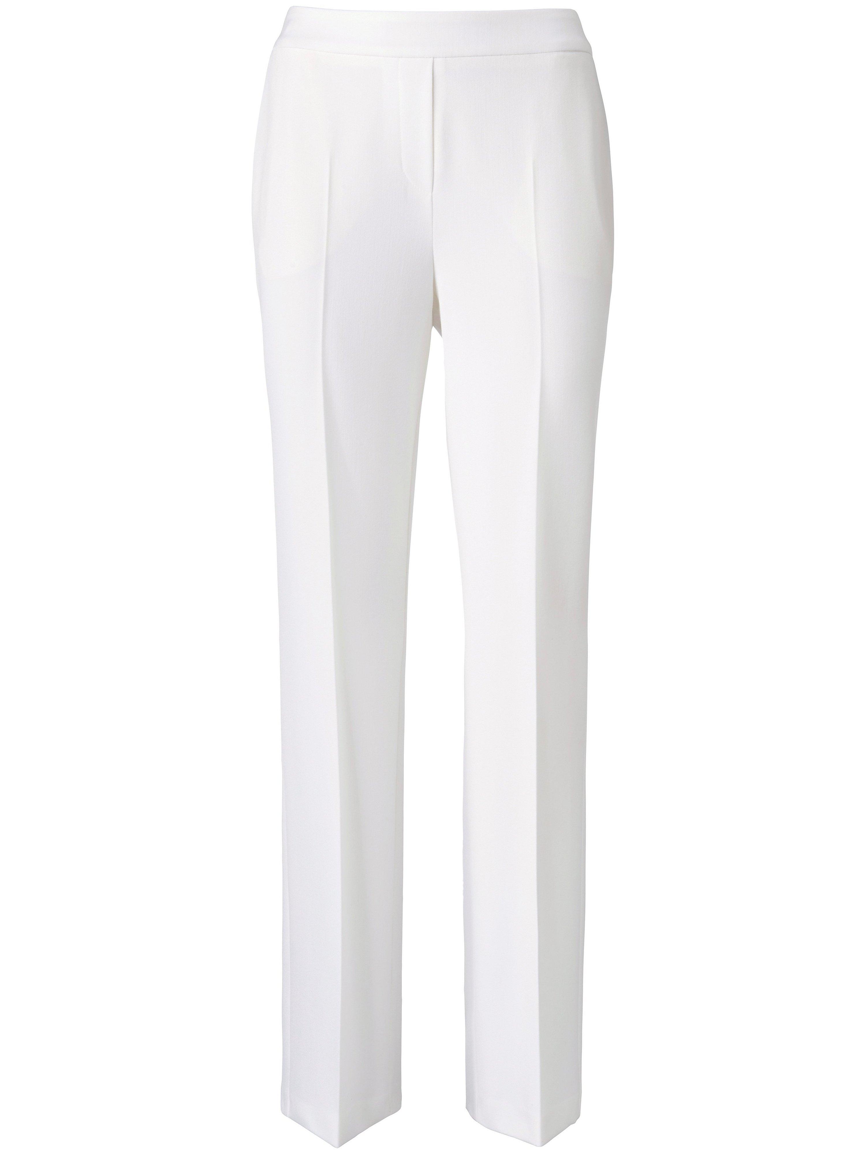 Comfortabele broek pasvorm Cornelia Van Peter Hahn wit