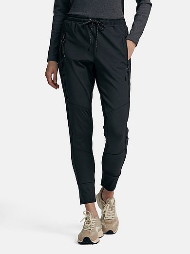 twenty six peers - Jogger style trousers with faux leather stripes