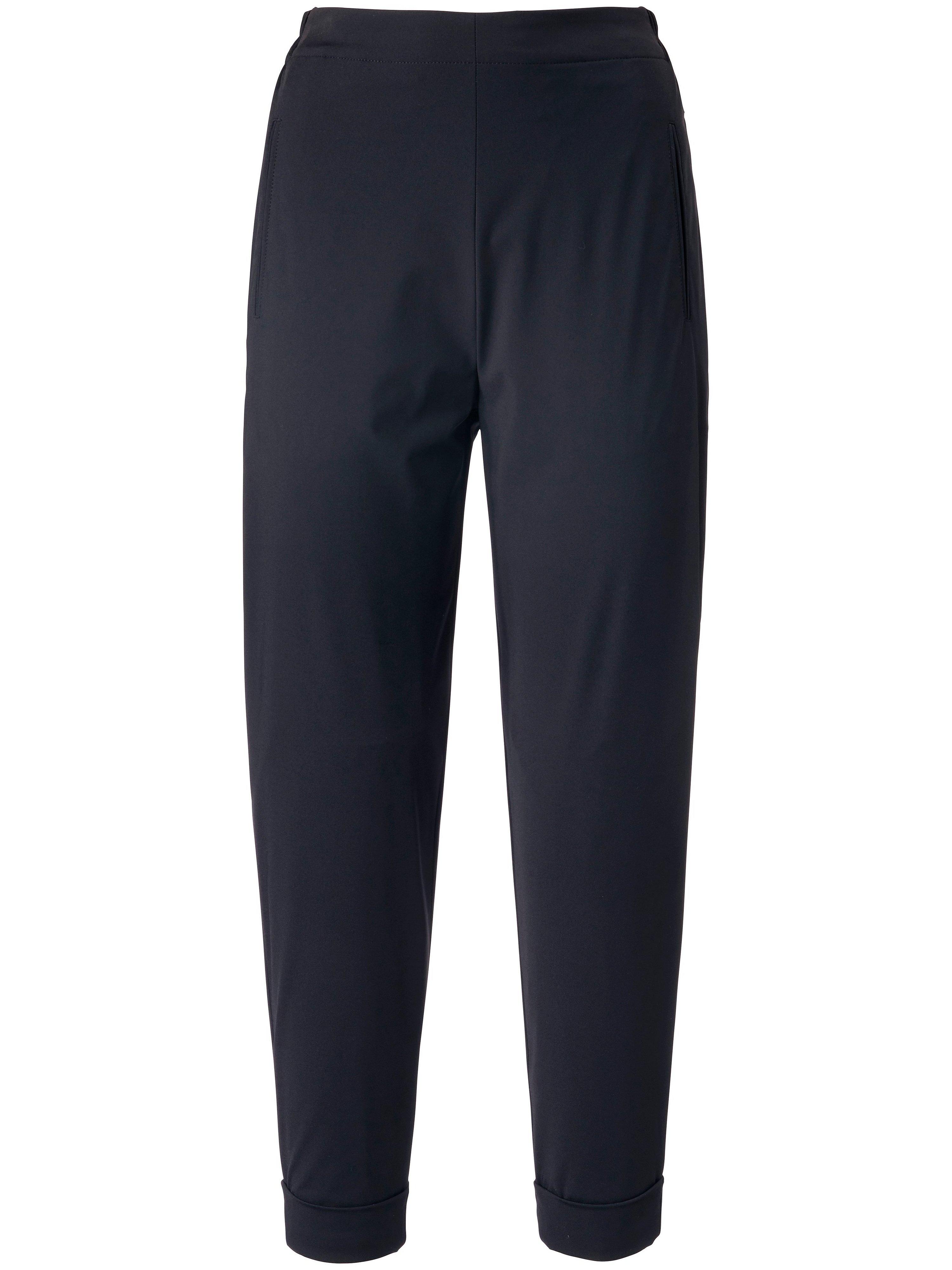 7/8-jerseybroek deels elastische band Van elemente clemente zwart