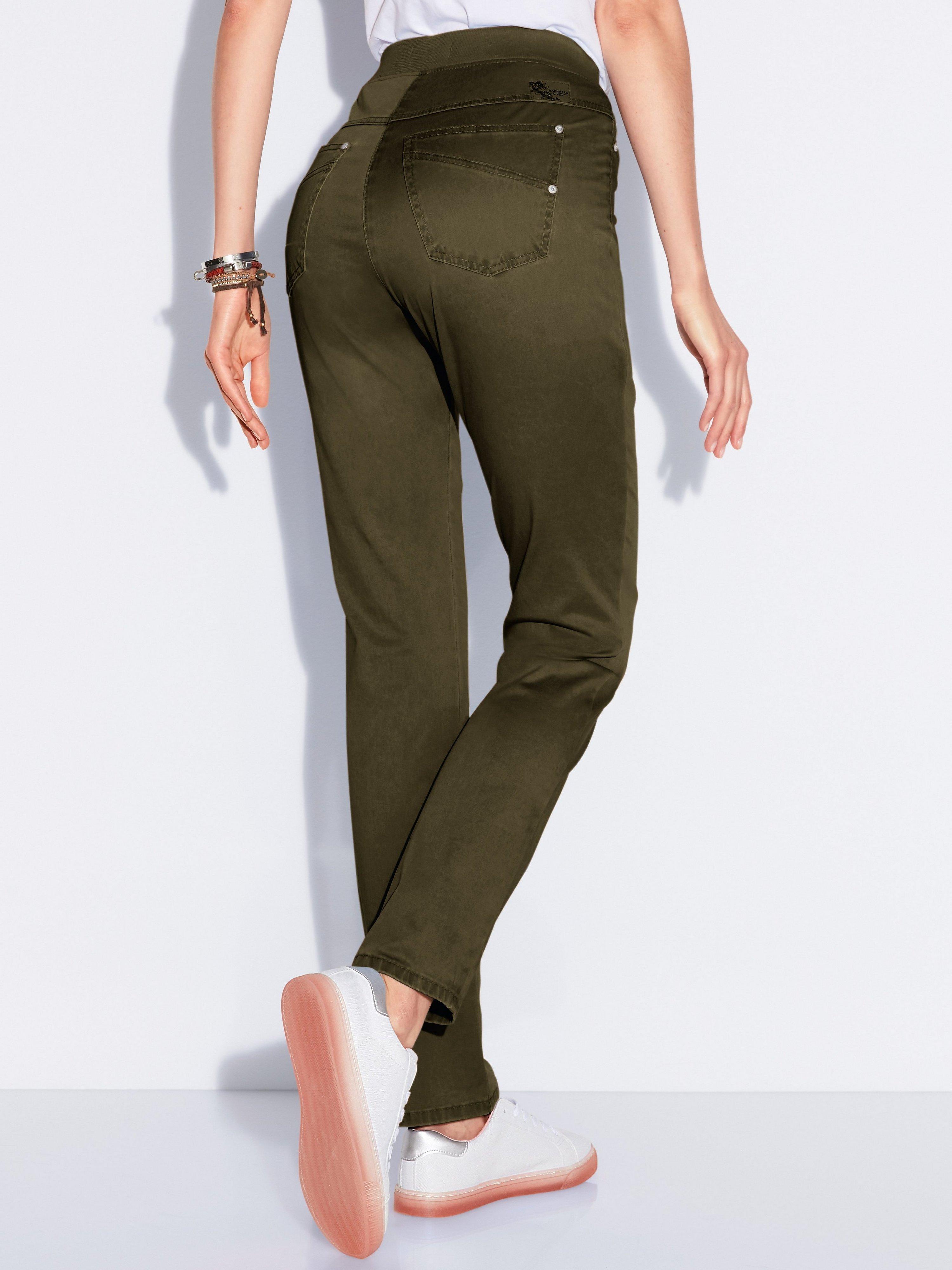 Comfort Plus-broek model Carina Van Raphaela by Brax groen