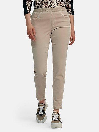 Marc Cain - Ankle-length velvet trousers with straight leg