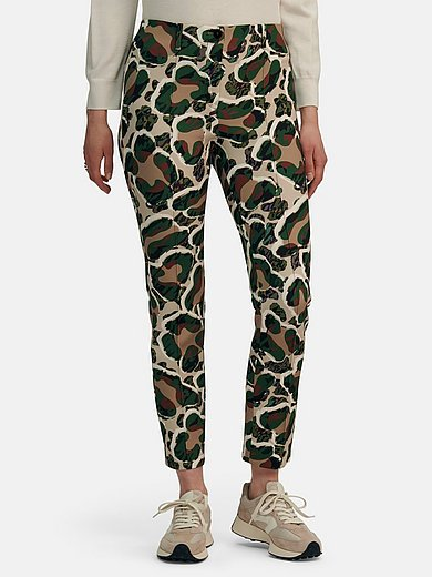 Marc Cain - Ankle-length trousers with camouflage print