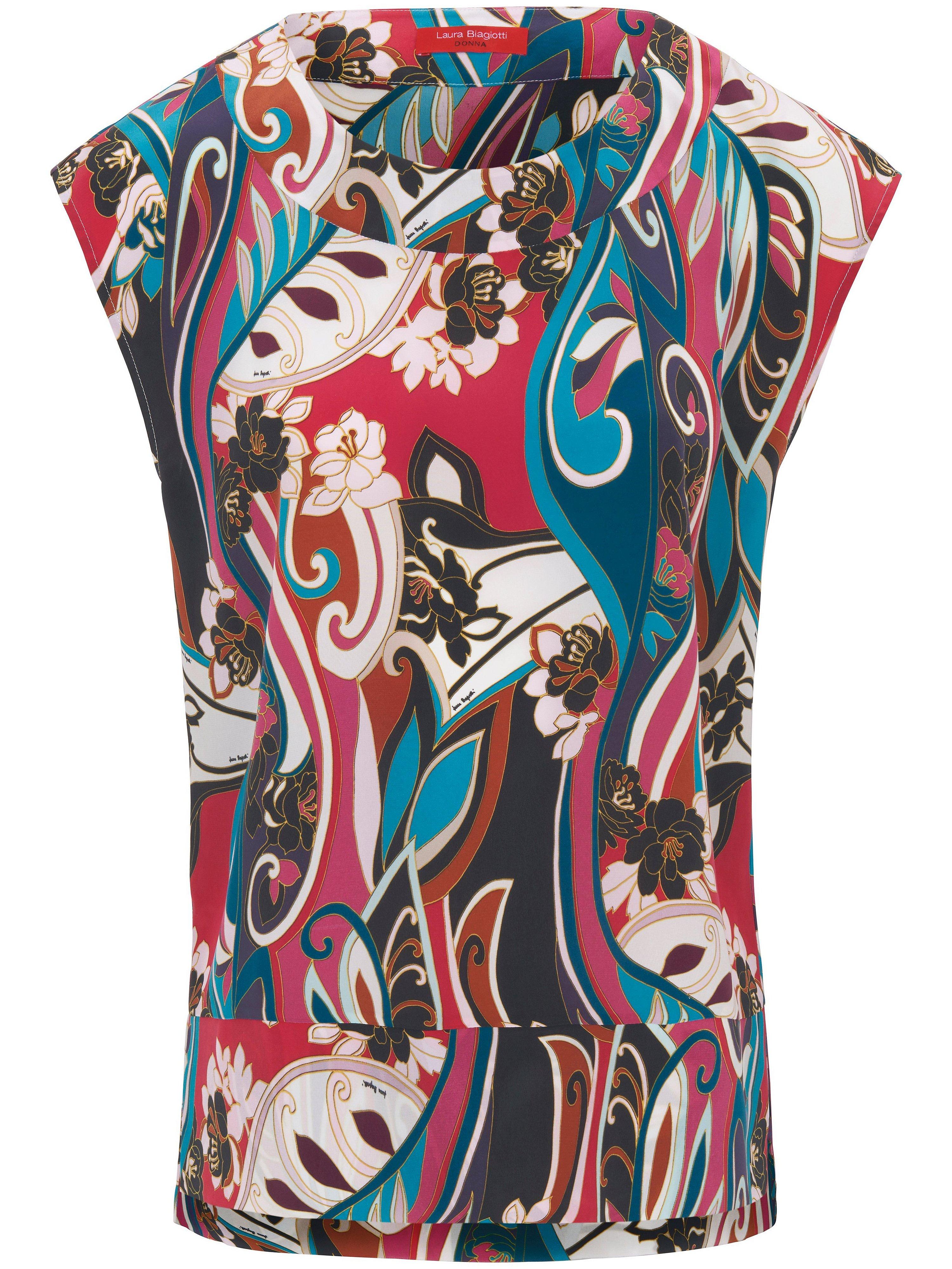 Blousetop van 100% zijde Van Laura Biagiotti Donna multicolour