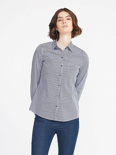 Peter Hahn - Blouse in overhemdmodel van 100% katoen