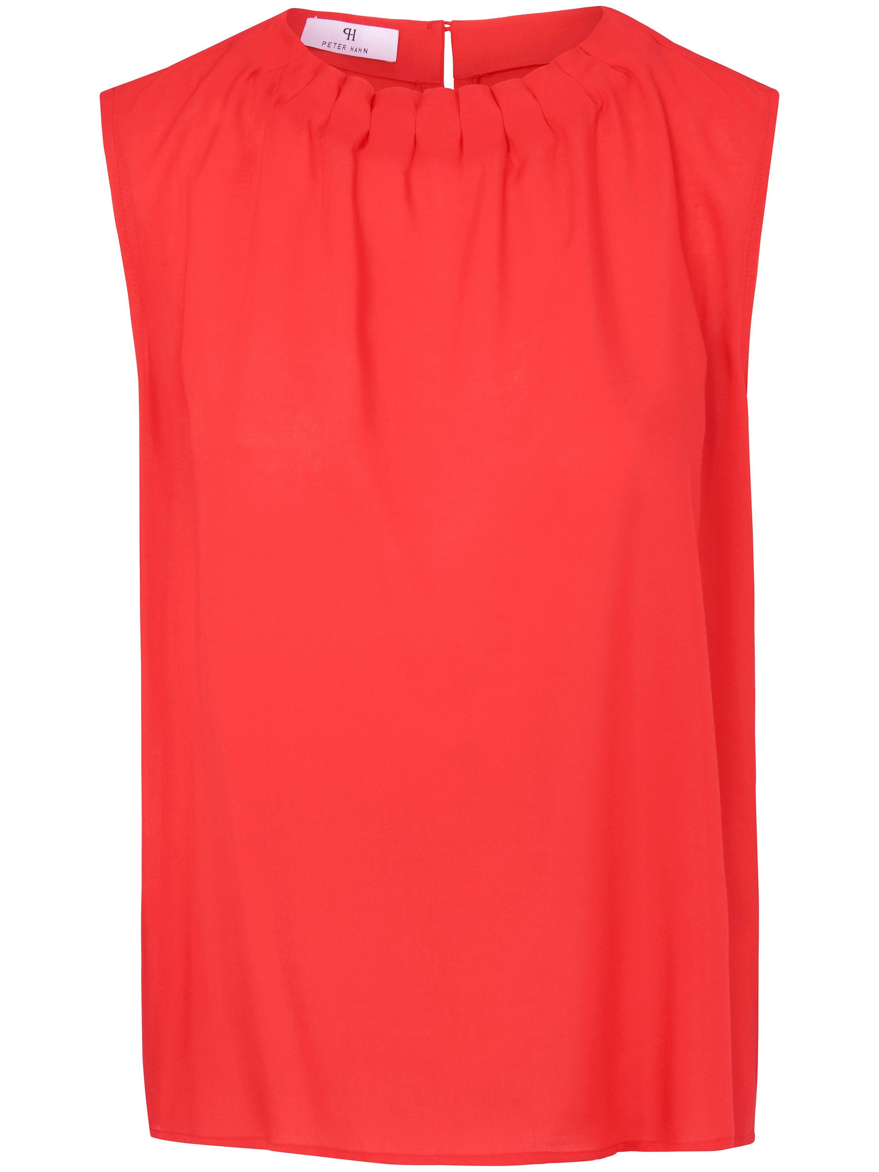 Mouwloos blouseshirt Van Peter Hahn rood