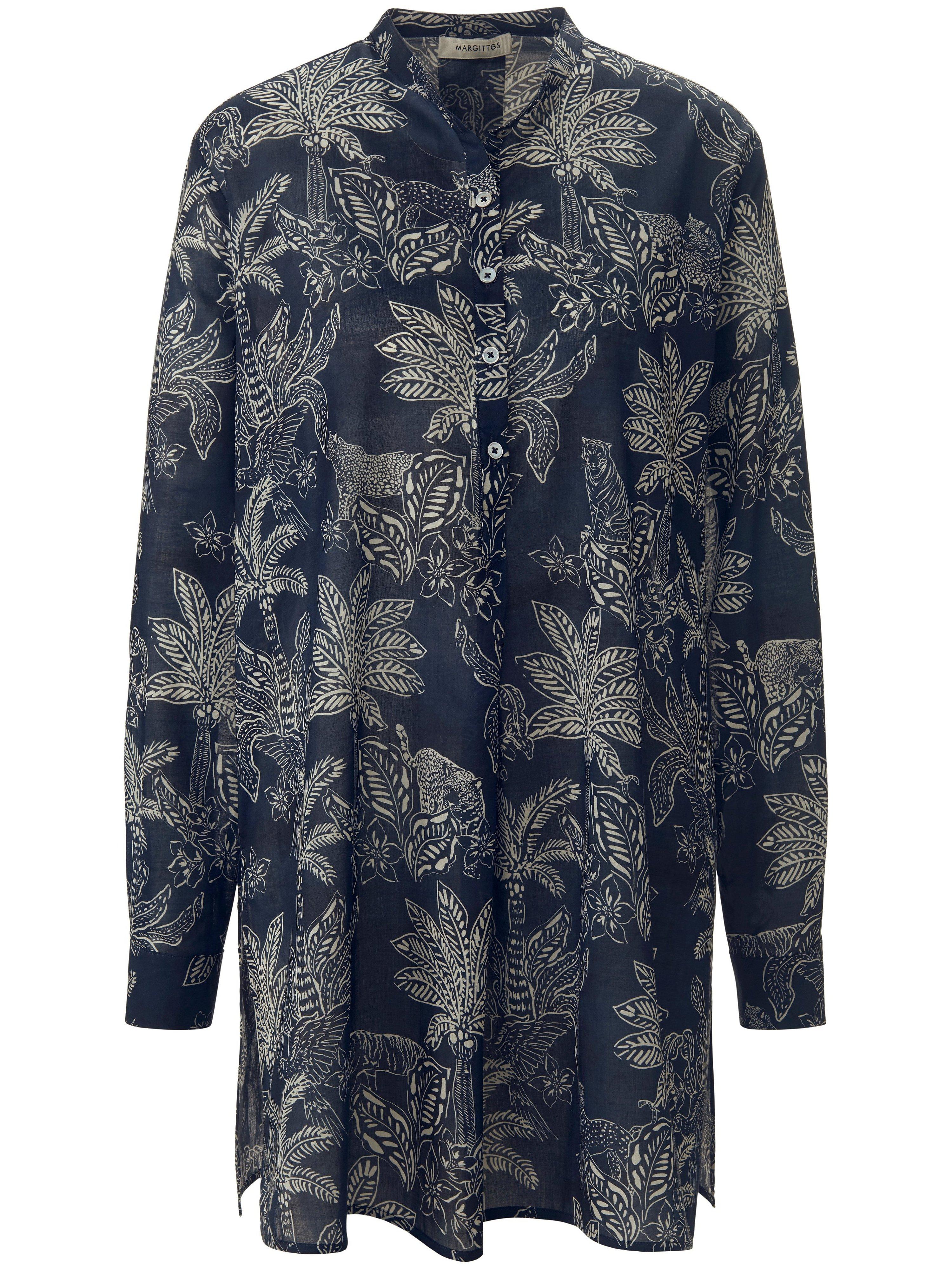 Lange blouse Van Margittes blauw