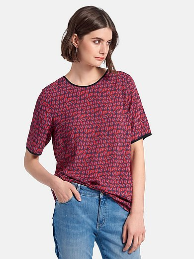 Looxent - Pull-on style blouse with short sleeves