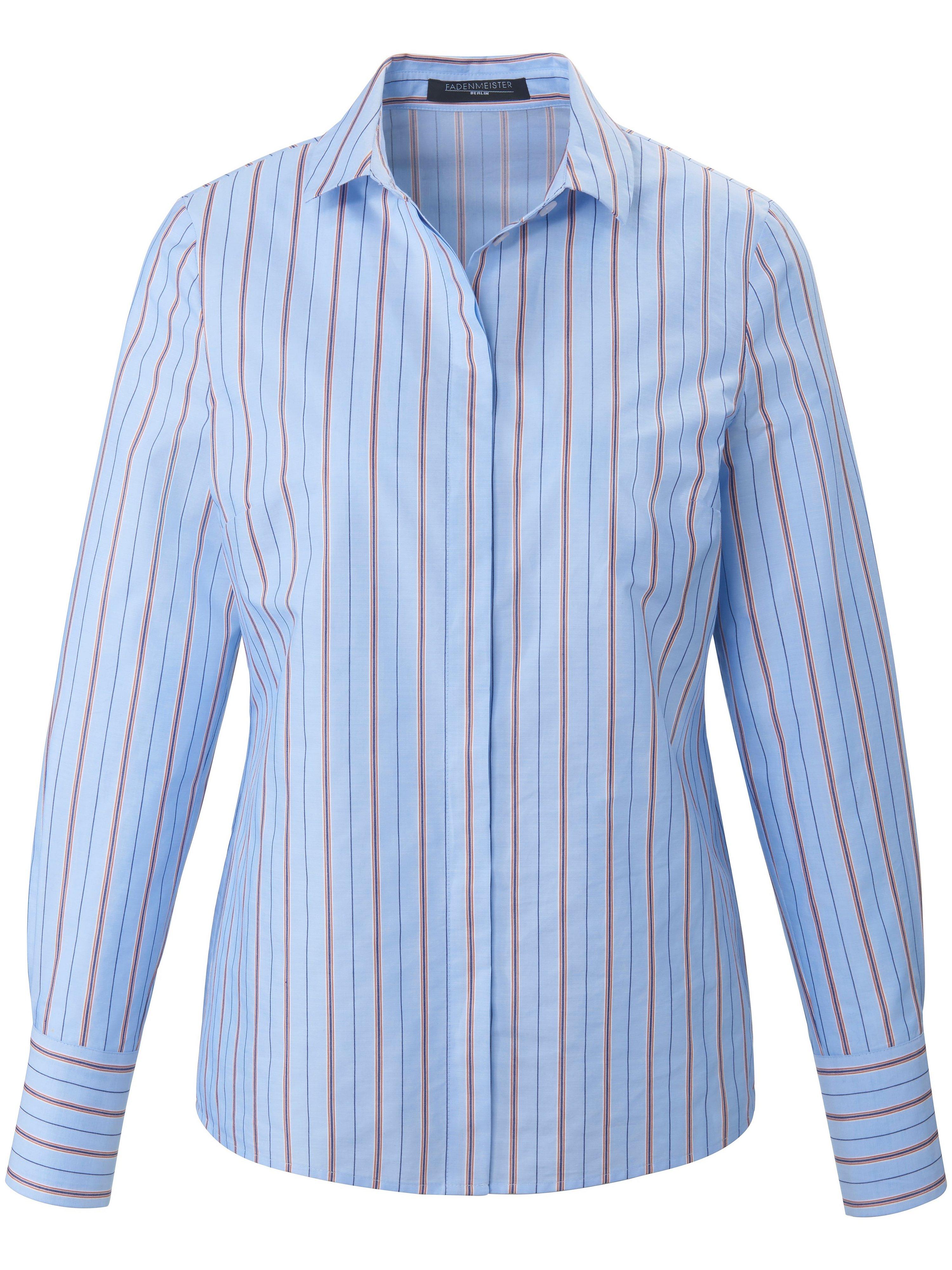 Blouse long sleeves Fadenmeister Berlin blue