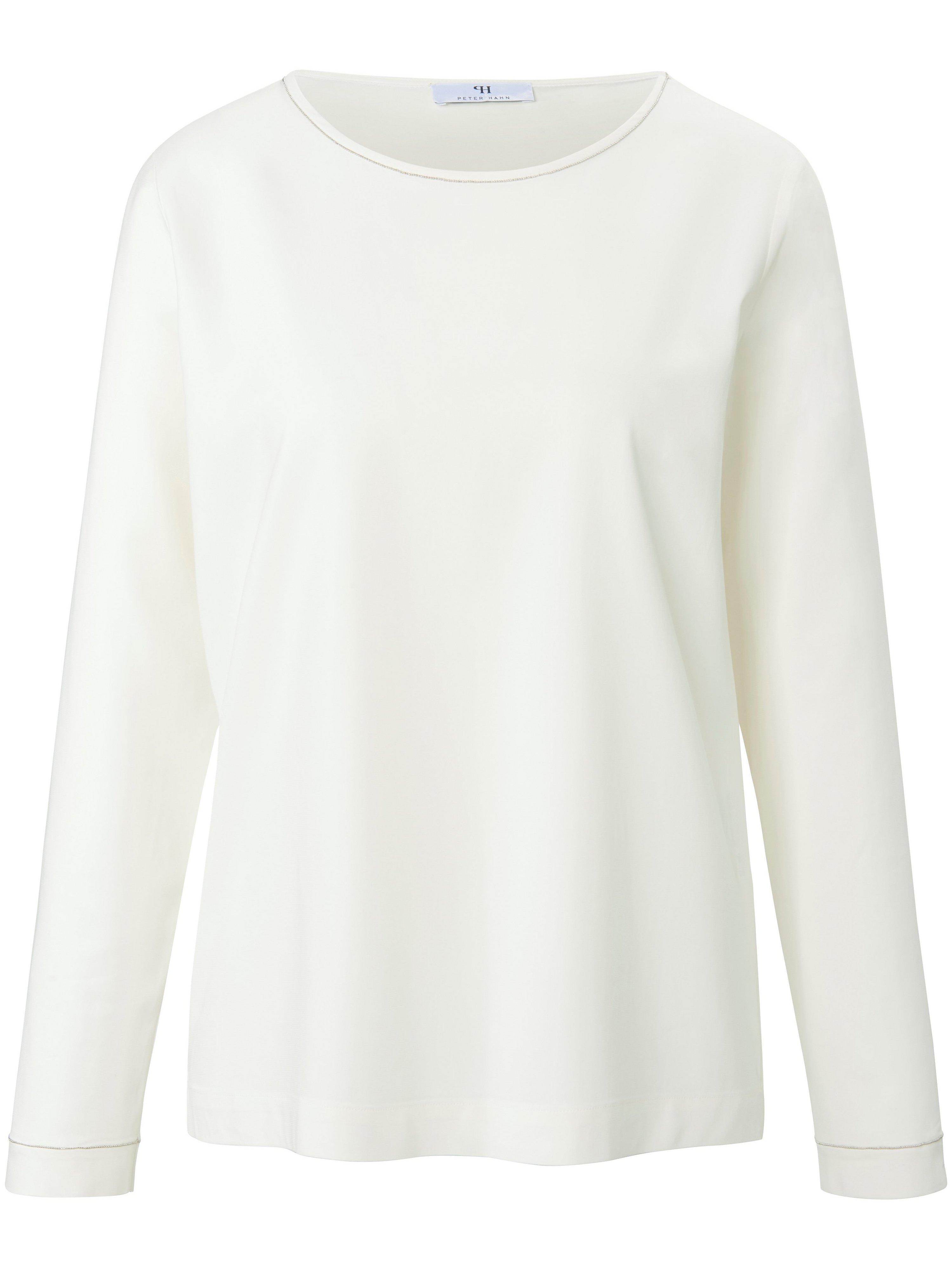 Shirt lange mouwen en zijsplitjes Van Peter Hahn wit